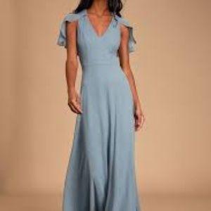 Lulu's kadence dress slate blue